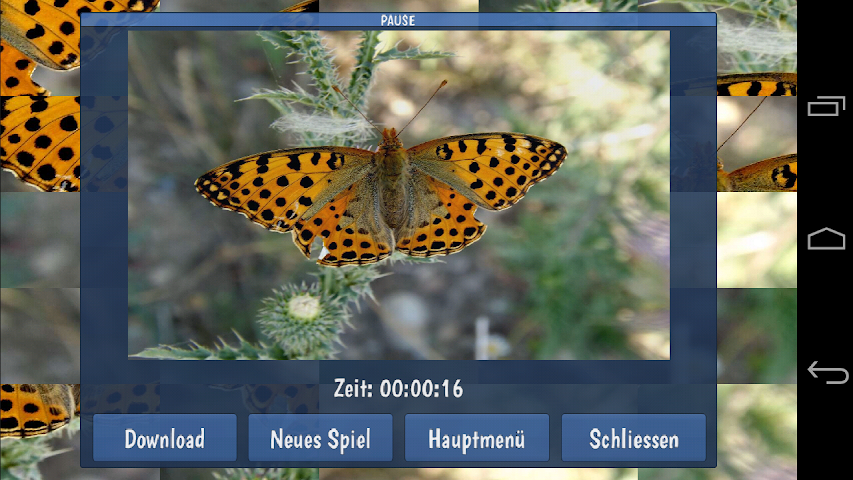 android Tile Puzzles · Butterflies Screenshot 2