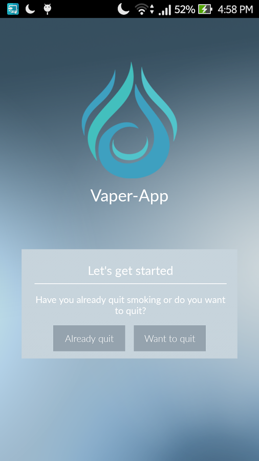 Vaper-App: stop smoking- screenshot