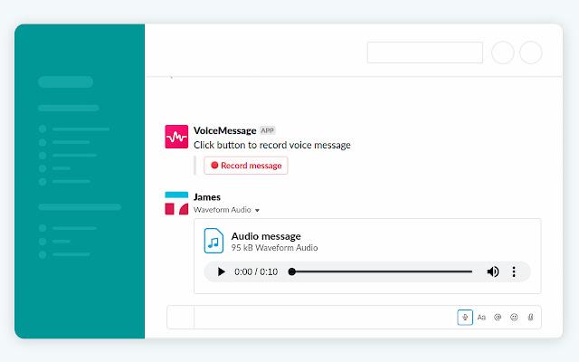 Voice messaging for Slack
