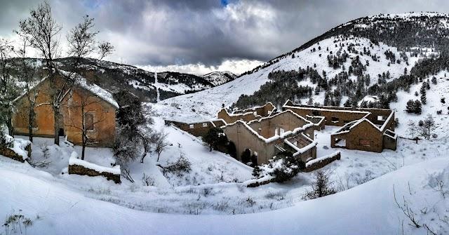 Las Menas de Serón en una nevada. Imagen cedida por el Ayuntamiento de Serón.