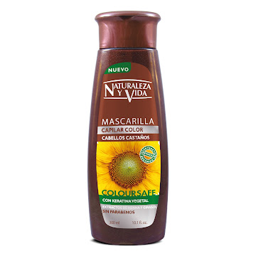 Mascarilla Capilar Naturaleza y Vida Cabello Castaño Coloursafe x300Ml