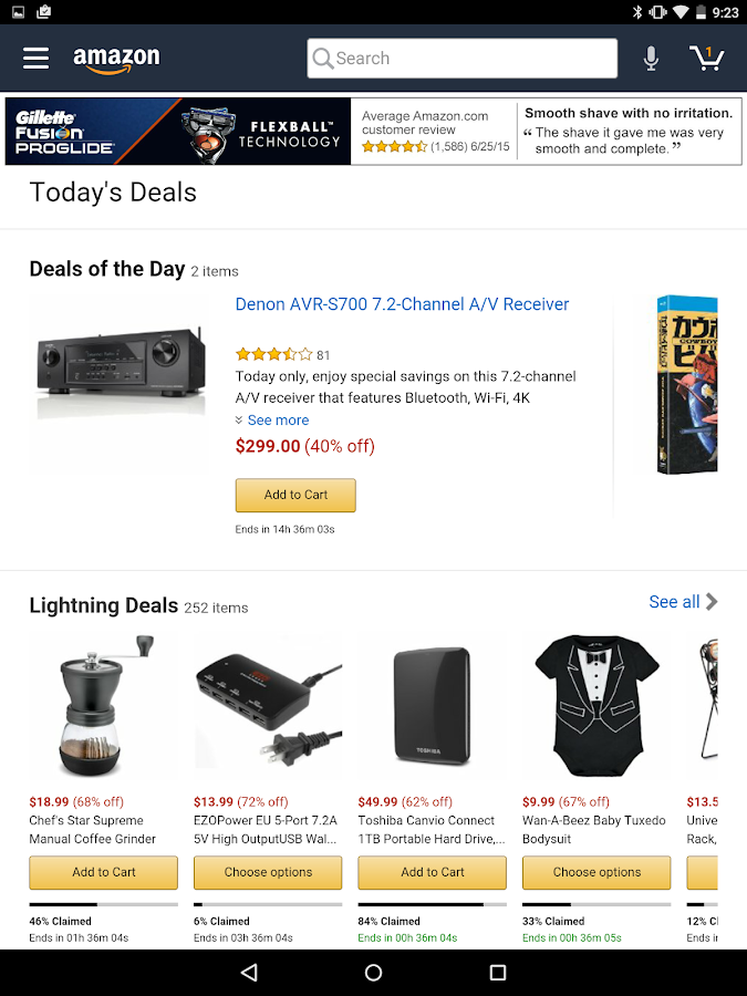 Amazon for Tablets- screenshot