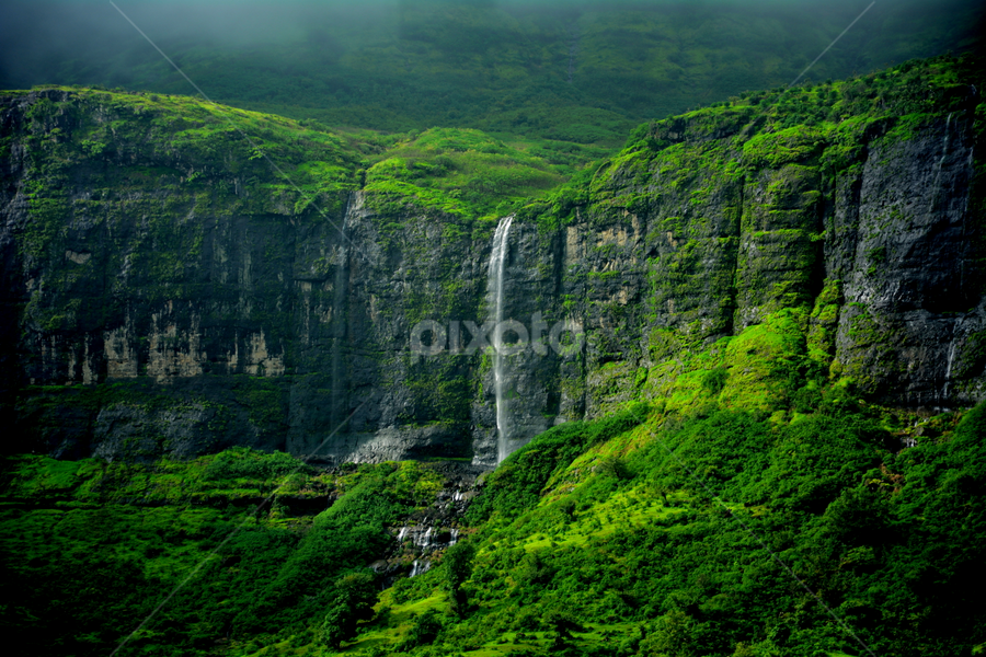 Its like Heaven on the Earth!!!! by प्रसाद जोशी - Landscapes Waterscapes ( waterfall mountain greenery light )