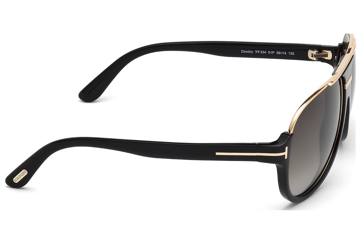 4bc49f1d5 ... Sunglasses Tom Ford Dimitry FT0334 C59 01P (shiny black / gradient  green). 24h Shipping