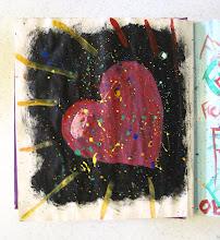 Photo: Student Work:  Art Journaling