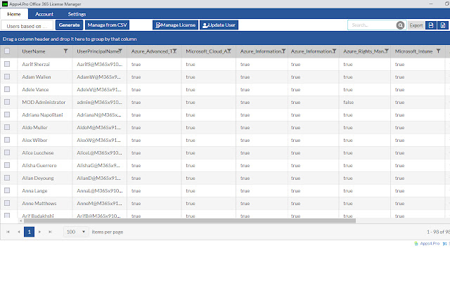 Apps4.Pro Office 365 License Manager