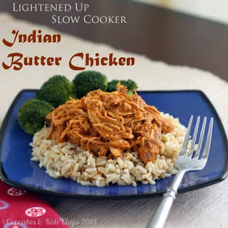 Lightened Up Slow Cooker Indian Butter Chicken.