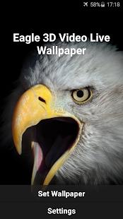 Eagle 3D Video Live Wallpaper