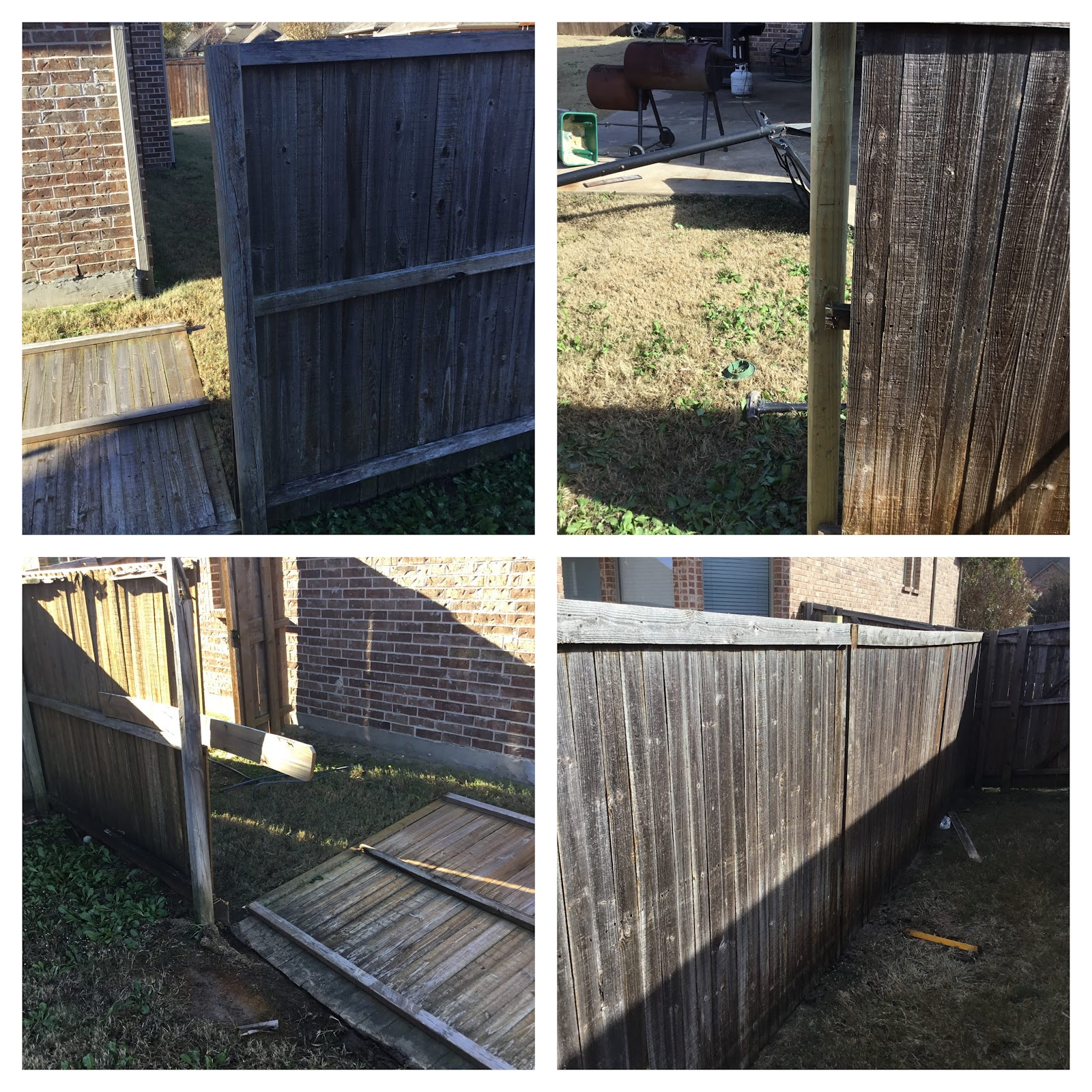 Handyman Little Elm fence installation.
