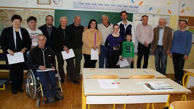 Photo: Tečajniki generacije 2014/15, ki so opravili izpit za radioamaterja operaterja, 12.04.2015