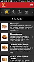 Screenshot of McDonald's Arabia
