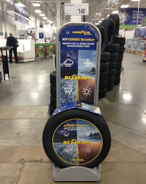 Check or replace your tires as part of the Winter Prep Your Car. Consider choosing the new Goodyear Assurance WeatherReady Tires at Sam's Club