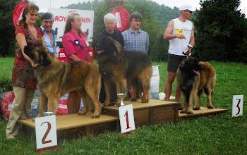 Photo: le podium, Wim 2ème, Puff 1er, Pacha 3ème