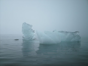 Photo: Small icebergs in Holkham Bay.