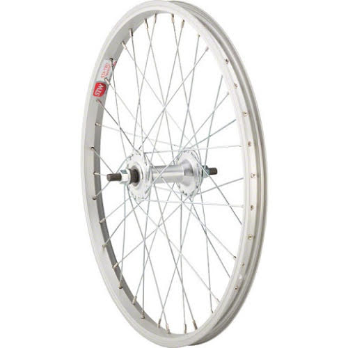 "Sta-Tru Silver Front Wheel 20x1.5"" Solid Axle with 36 Spokes"