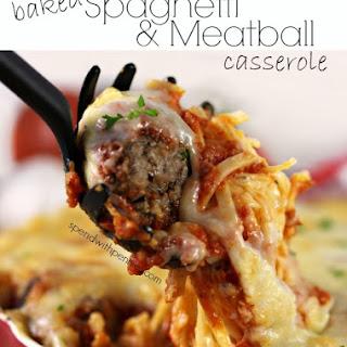 Baked Spaghetti & Meatball Casserole