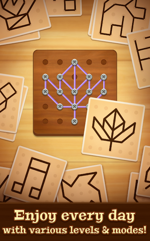 Line Puzzle: String Art poster 2