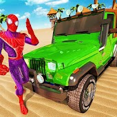 Superhero Car Stunts Buggy Racing