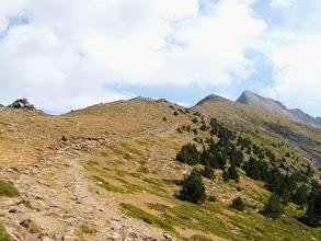 Photo: Sulla via di discesa, un ultimo sguardo al Canigou.