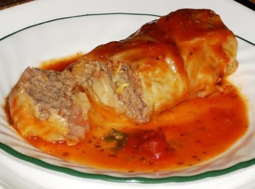 """Low Carb Turkey Cabbage Rolls """"We don't eat ground beef, but do..."""