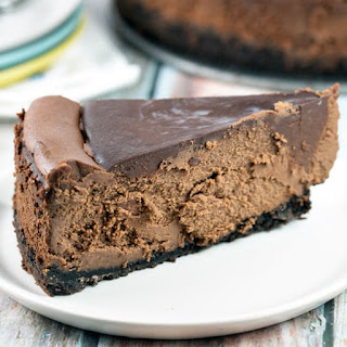 Dark Chocolate Cheesecake.