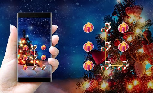 Holiday APP Lock Theme Christmas Pin Lock Screen - náhled