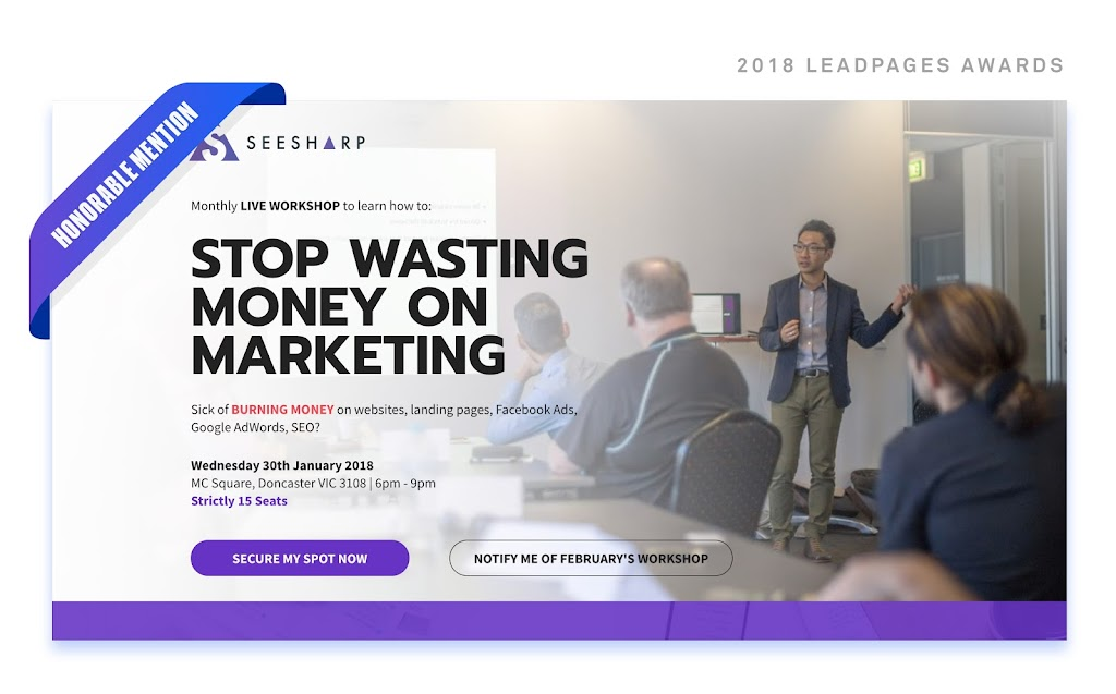 Top-Performing Landing Pages from the 2018 Leadpages Awards