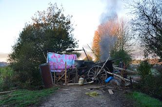 Photo: barricade chemin bellish du 30