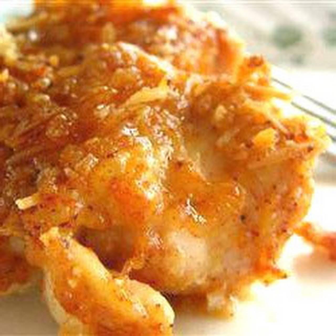 Scrumptious Crispy Cheesy Baked Chicken