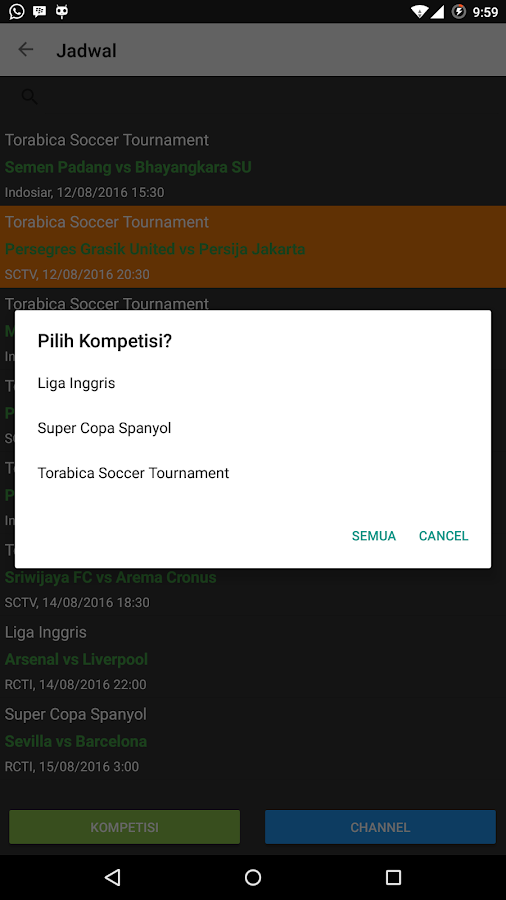 Info Jadwal Bola- screenshot