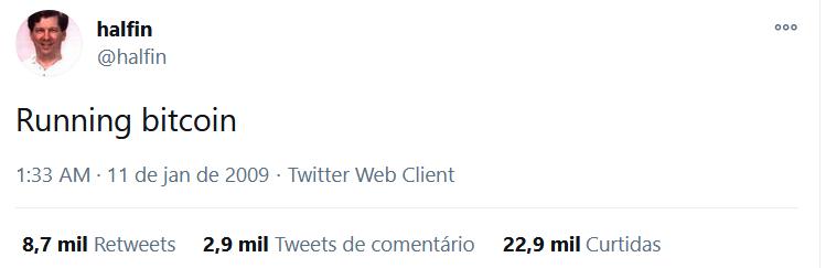 Rodando o Bitcoin tweet de Finney