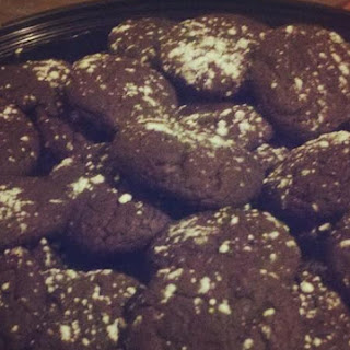 Dark Chocolate Fudge Cookies