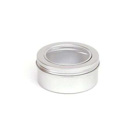 Aluminiumdosa 150 ml  med fönster