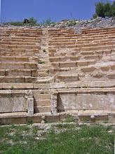 Photo: Rhodiapolis, Impressive Theater .......... Het indrukwekkende Theater