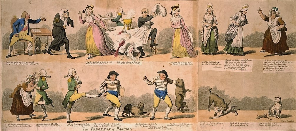 Cruikshank, The progress of passion (1792).