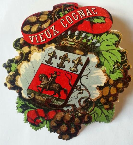 Francois Appel - Imprimerie, 12, Rue Delta, Paris - Etikett Vieux Cognac
