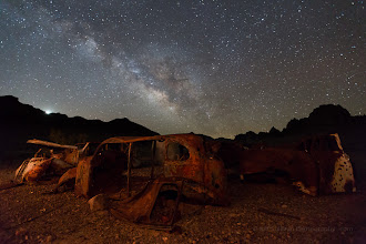 Photo: Milky Way and Venus rising over old cars - Mojave Desert, California, March, 2014.