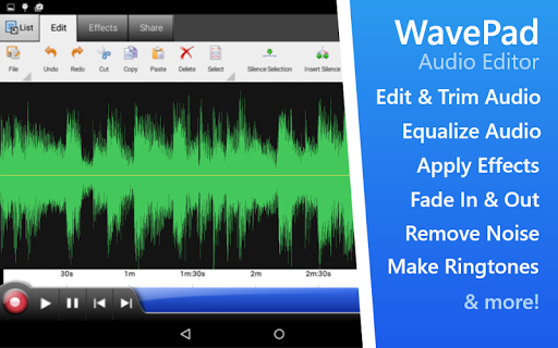 WavePad Audio Editor Free screenshots 1