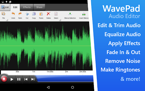 WavePad Audio Editor Free Capture d'écran