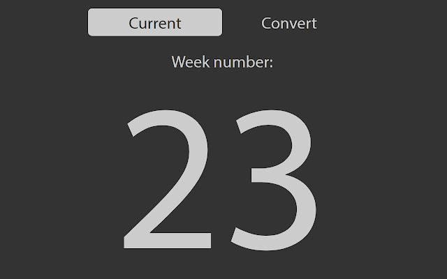 Week number extension