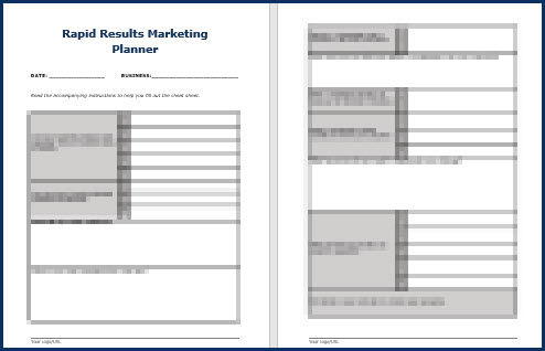 Rapid Results Marketing Formula - Planner
