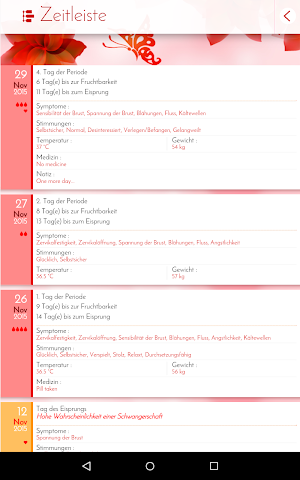 android Perioden-Tagebuch - Kalender Screenshot 11
