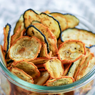 Low-Carb Crispy Zucchini Chips.