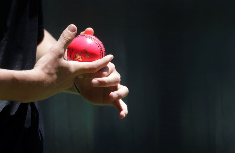 A pink cricket ball. Picture: REUTERS/Jason Reed
