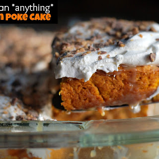 Better than anything….Pumpkin Poke Cake.