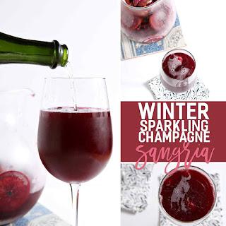 Winter Sparkling Champagne Sangria.