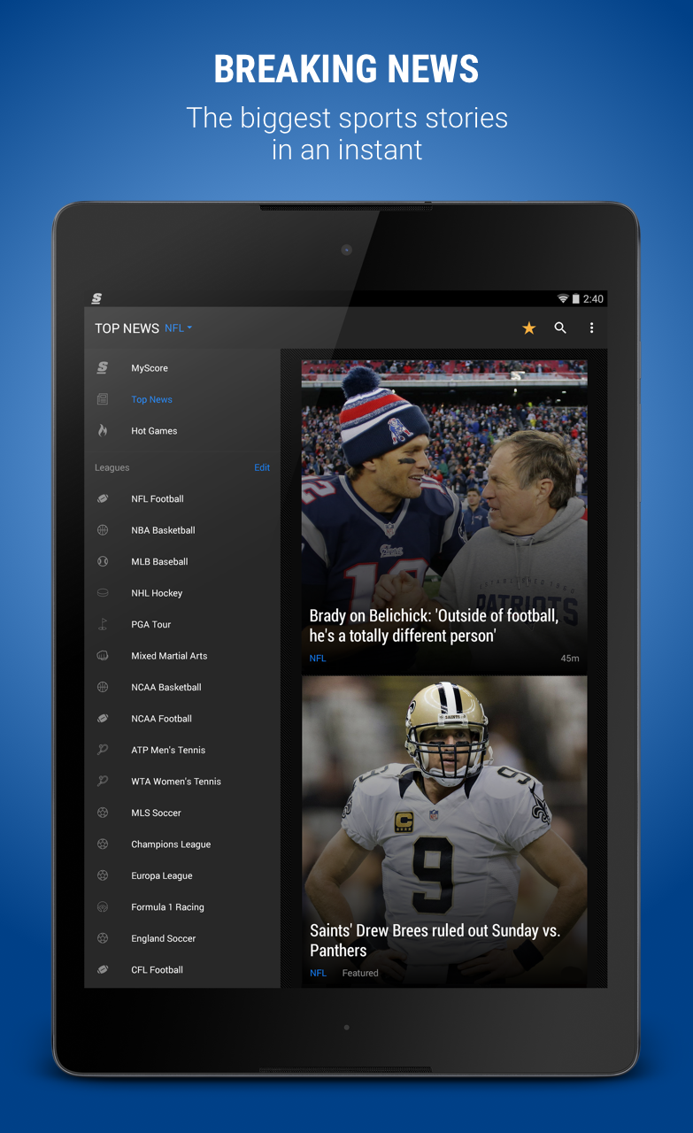 theScore: Sports Scores & News screenshot #9