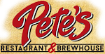 Logo for Pete's Restaurant & Brewhouse-Manteca