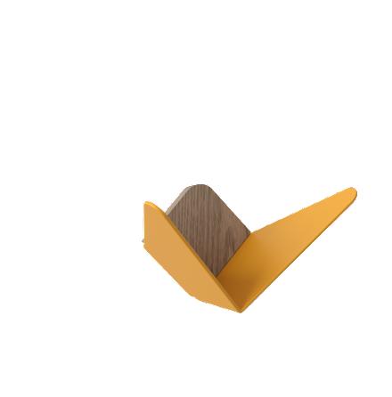 Butterflies, medium - Saffron Yellow