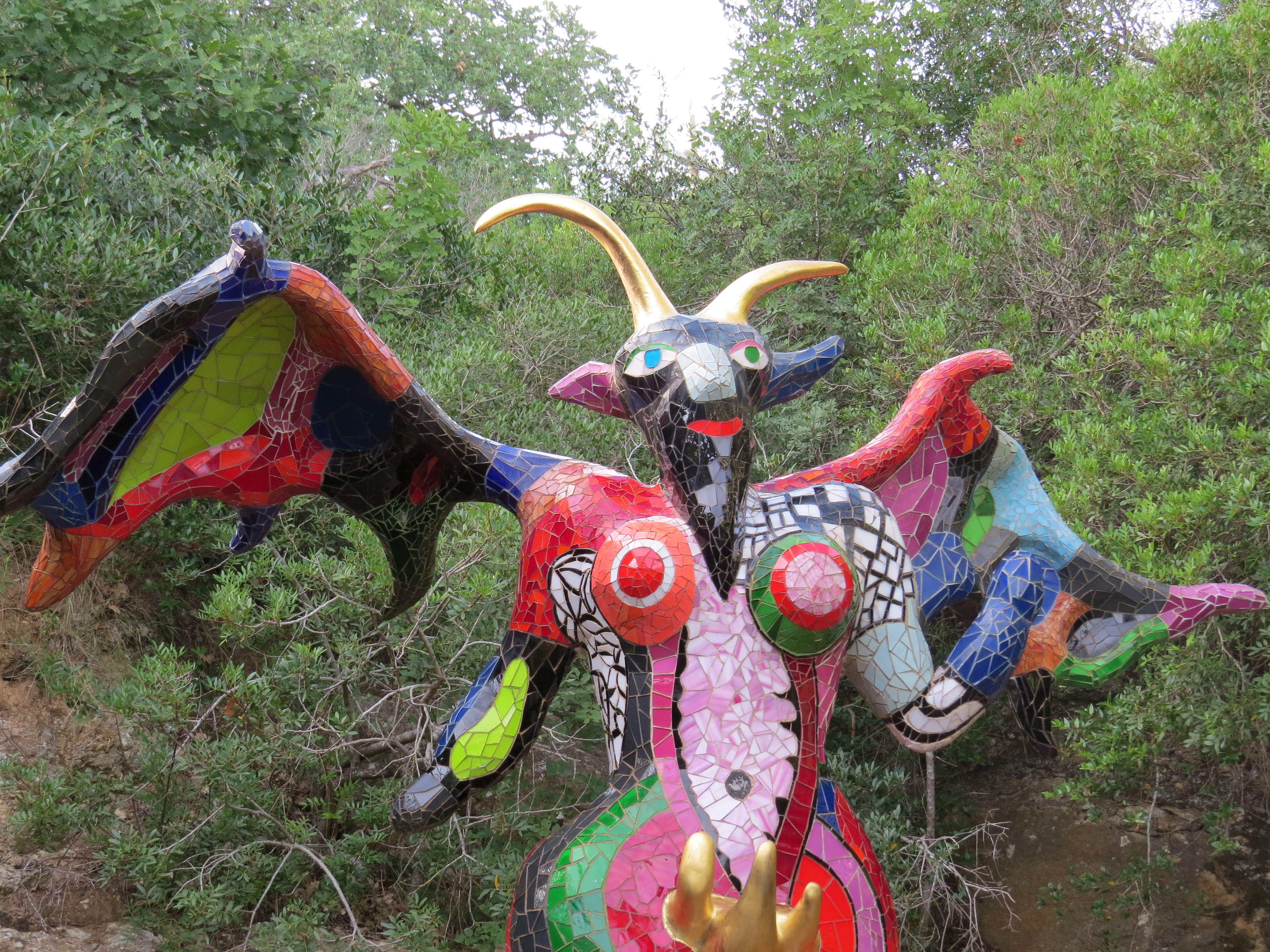Niki de Saint Phalle, Il Diavolo (particolare), Giardino dei Tarocchi, Capalbio